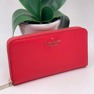 Kate Spade Large Continental Wallet Digital Red